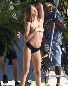 52257066 Models Taylor Hill and Josephine Skriver are spotted doing a Victoria's Secret photo shoot on the beach in Miami, Florida on December 13, 2016. Josephine posed topless for a couple of frames but made sure to cover up as much as she could. Models Taylor Hill and Josephine Skriver are spotted doing a Victoria's Secret photo shoot on the beach in Miami, Florida on December 13, 2016. Josephine posed topless for a couple of frames but made sure to cover up as much as she could. Picture: Josephine Skriver FameFlynet, Inc - Beverly Hills, CA, USA - +1 (310) 505-9876