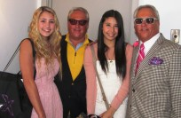 ACTRESS LIA MARIE JOHNSON AND SINGER CHARISMA KAIN WITH MARK AND MATTHEW HARRIS AT THEIR WOW OSCAR GIFT LOUNGE