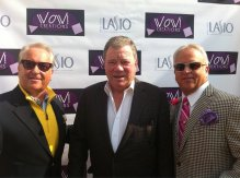 WILLIAM SHATNER WITH MARK AND MATTHEW HARRIS AT THE WOW GIFT LOUNGE ON FEBRUARY 18, 2013