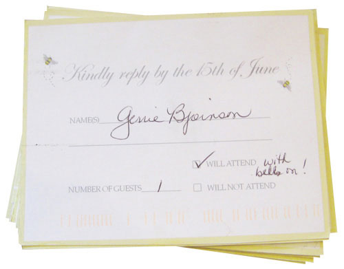 What To Do With The M Line On Wedding Rsvp