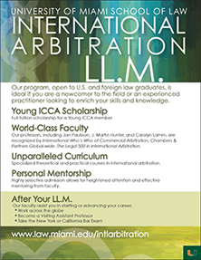2014-2015 Young ICCA/Miami Law LL.M. Scholarship Competition