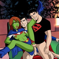 Superman or Superboy? Megan has no problems with taking them both!