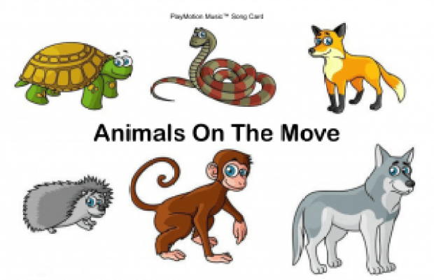 Animals On The Move Song Card