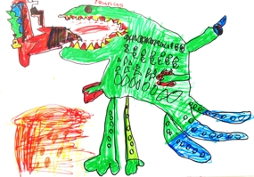 SOME OF THE COOL ART WE DID IN SUMMER CAMP …