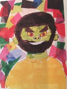 Tissue paper texture portrait