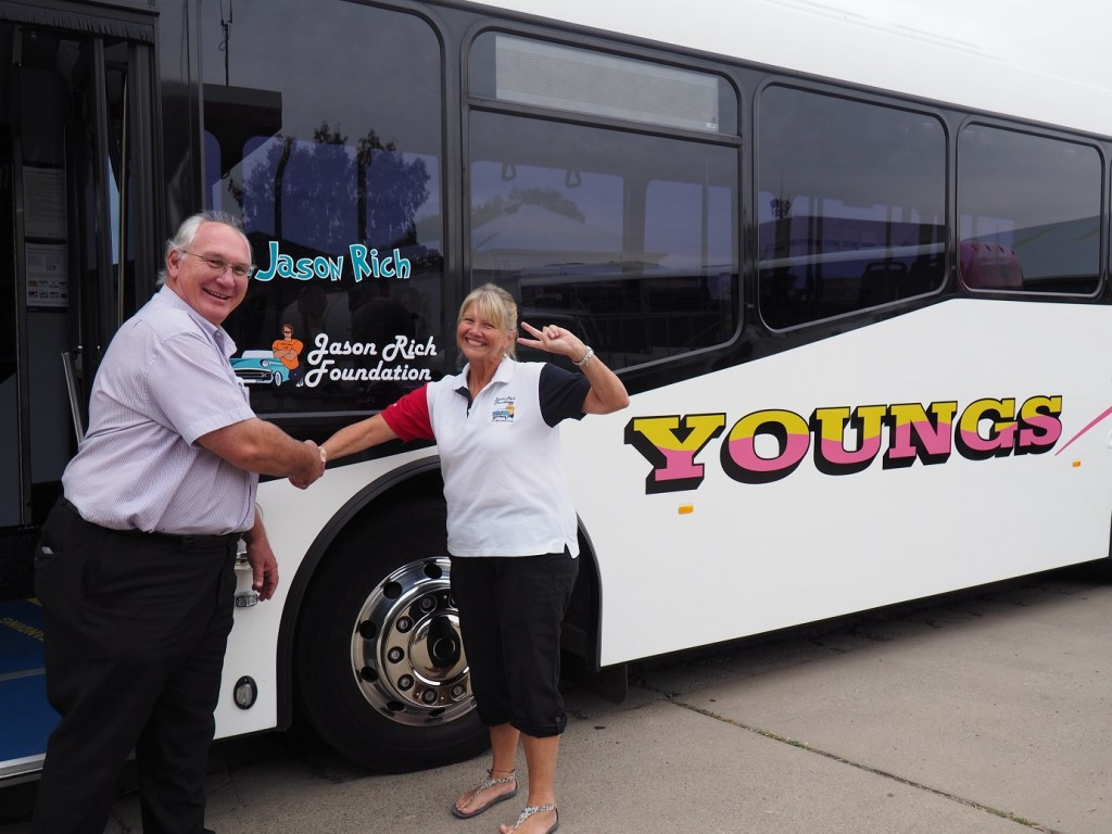 Young's Bus Service Operations Manager Phil Young with Tracey Rich