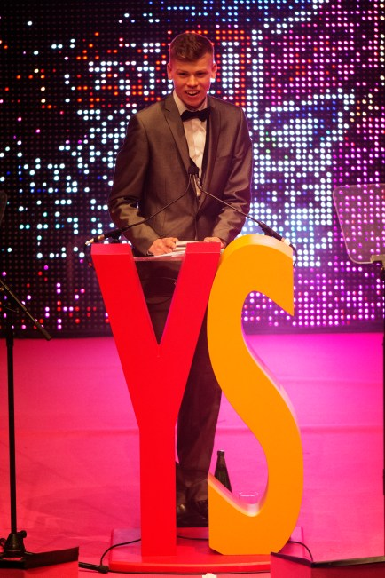 FOR SUNDAY MAIL Health Winner: Jamie McIntosh. Young Scot Awards 2015, Usher Hall, Edinburgh.. FEE PAYABLE FOR ALL INTERNET USE All money payable:- Mark Anderson Flat 2/2 Glasgow G41 3HG