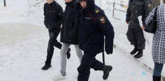 Задержание активистов во время стычки антифы и болельщиков ФК Рубин
