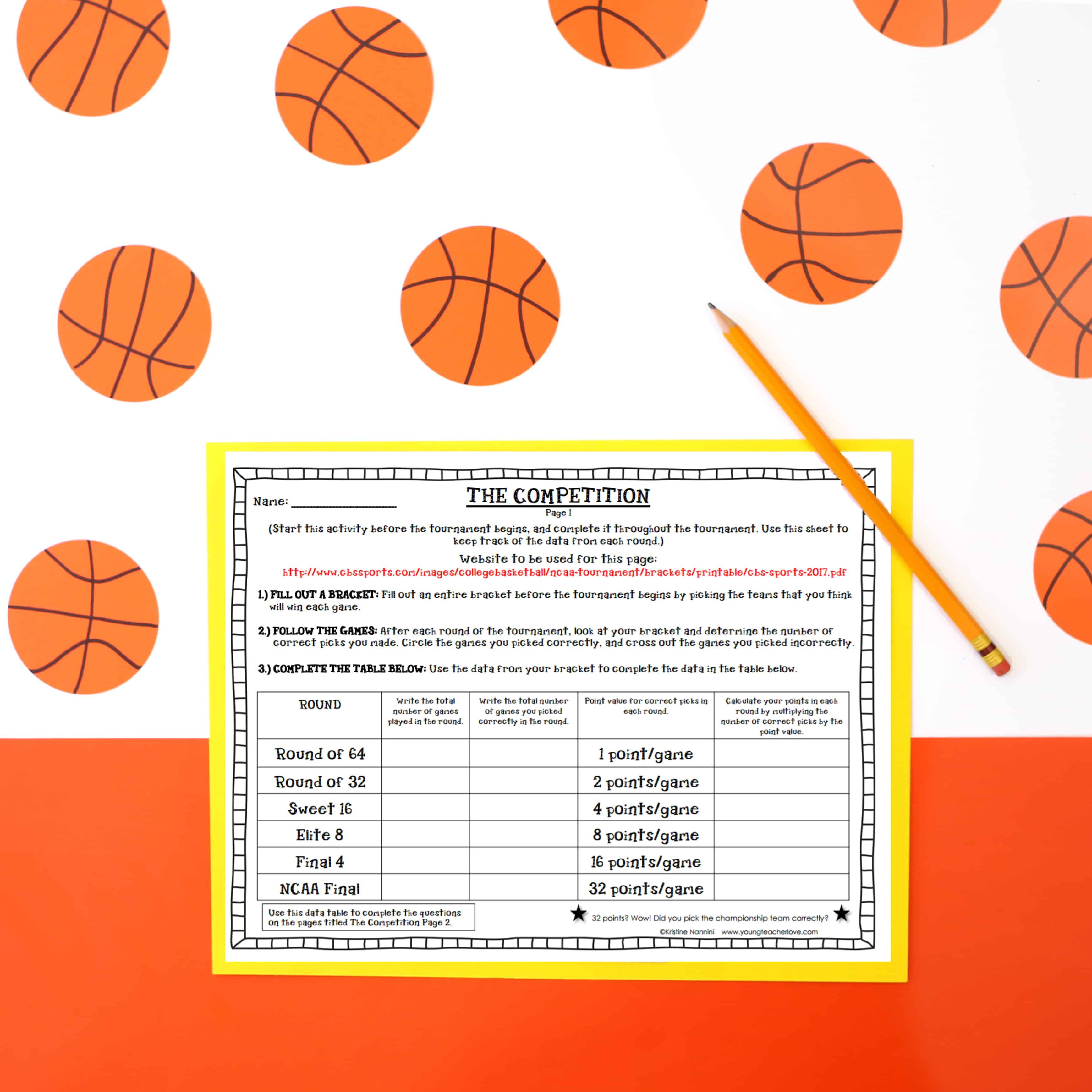 March Math Madness Worksheet March Best Free Printable Worksheets