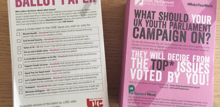 UK Youth Parliament's 'Make Your Mark' ballot TOP 10 campaigns 2018, reviewed