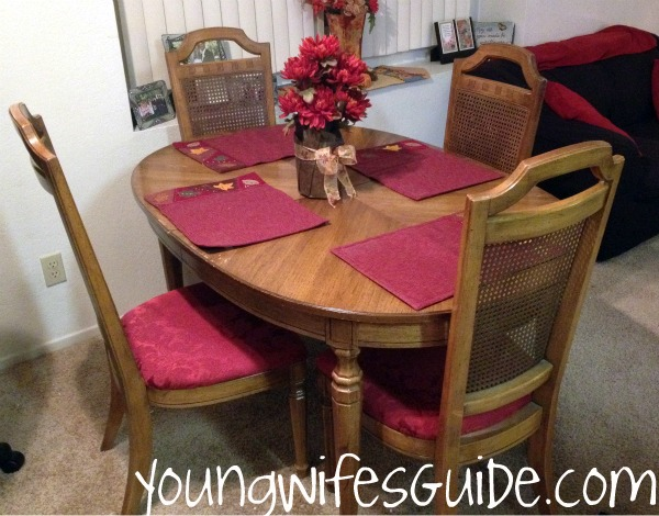dining room sets for less   Recover Old Chairs - For Less than $5 - Young Wife's Guide