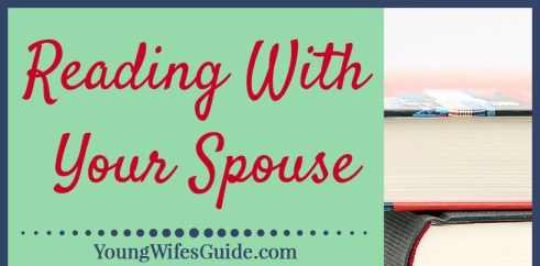 Reading with your spouse - the perfect date night!