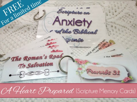 A Heart Prepared Scripture Memory Cards