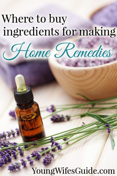 Where to buy ingredients for making home remedies