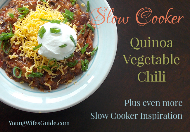 Slow Cooker Quinoa Vegetable Chili 2