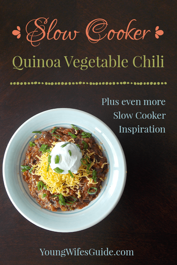 Slow Cooker Quinoa Vegetable Chili