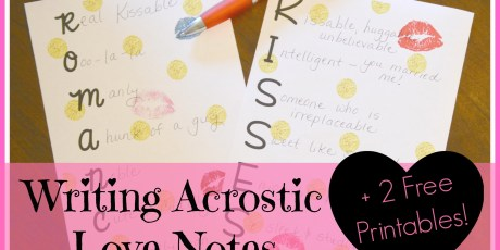 Writing Acrostic Love Notes 2