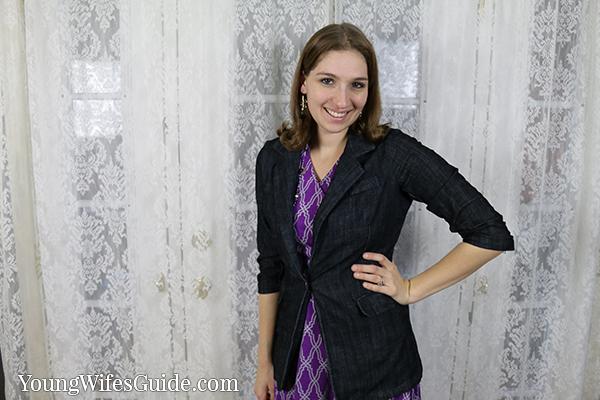 Purple dress with blazer