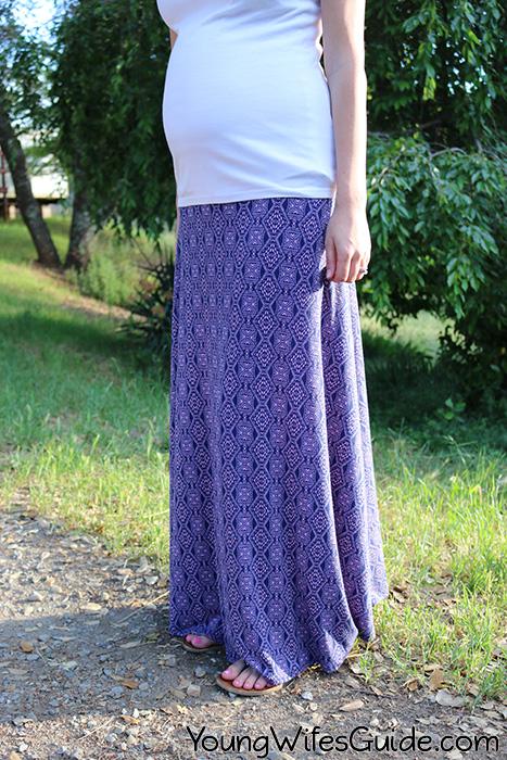 Purple Maxi Maternity Skirt