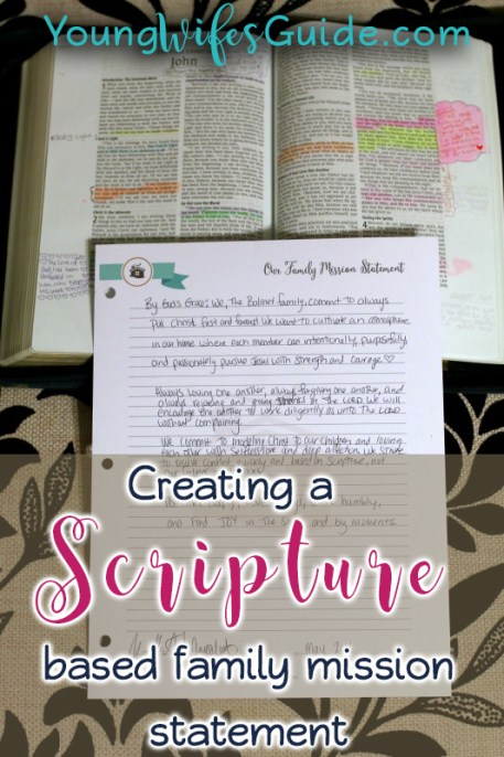 My Scripture Based Family Mission Statement
