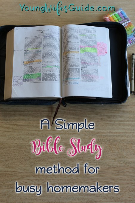 A simple Bible Study method for busy homemakers