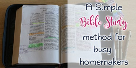 A simple Bible Study method