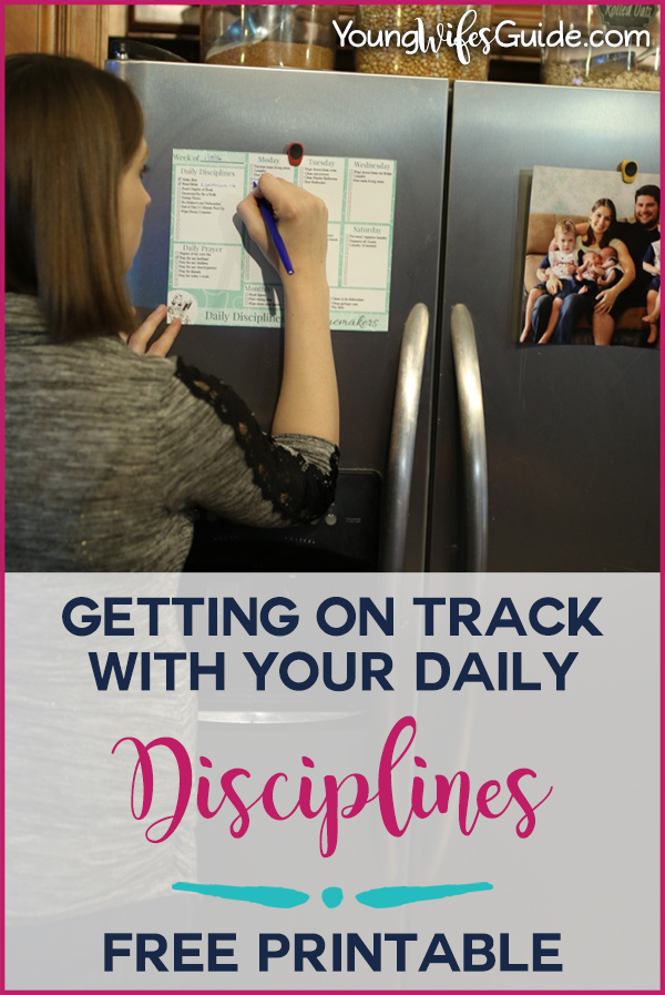 Getting on track with your daily disciplines