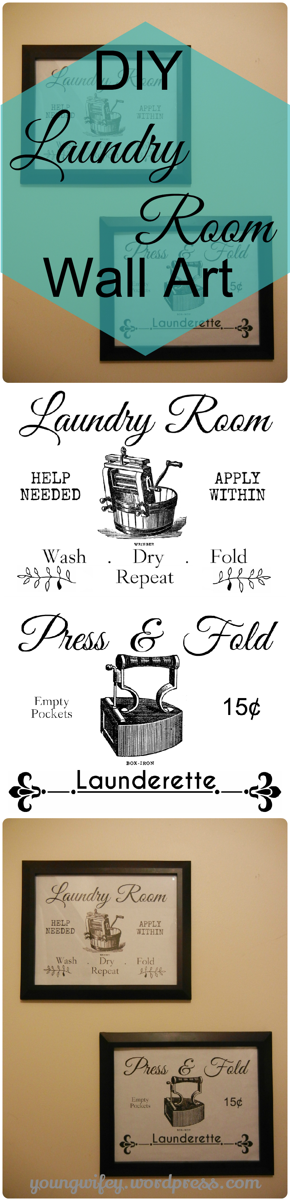 Vintage Laundry Room Decor Young Wifey S Blog