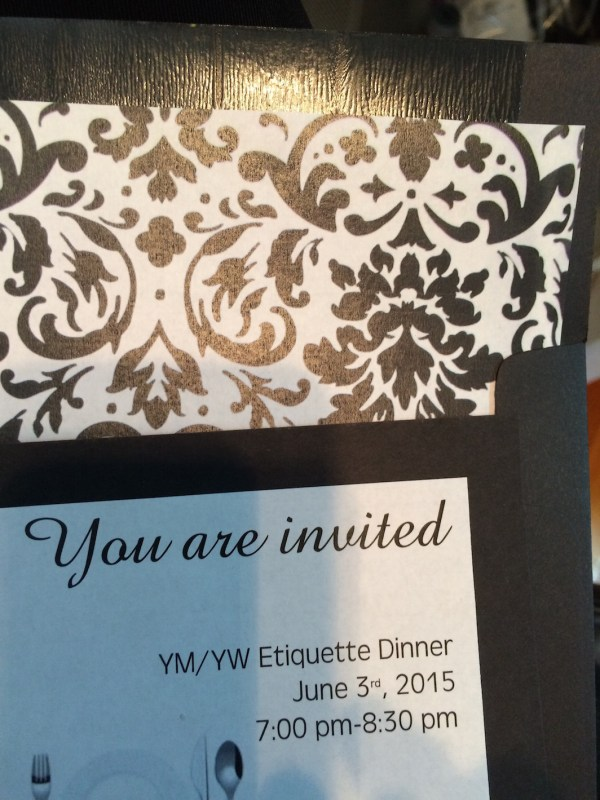KC1 Etiquette Dinner Mutual Activity