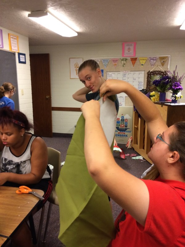 Personal Progress activity KNOWLEDGE learning how to sew