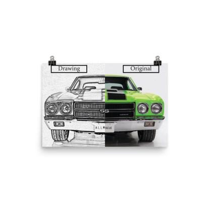 Custom Car Drawing - Drawing verses Original Image