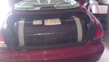 10 GGE Type 4 CNG Tank In Trunk of Accord