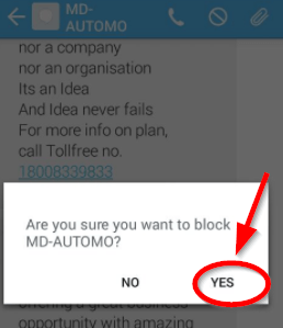block sms confirmation
