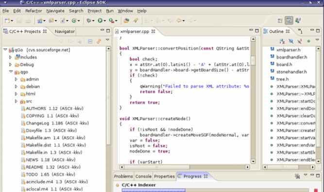 Eclipse CDT ide screenshot