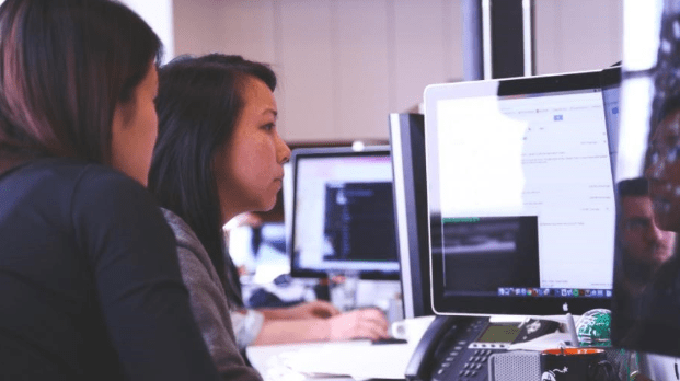 female programmers working