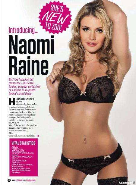 Naomi Raine 751x1024 - Naomi Raine is New to Zoo Magazine