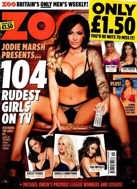 Jodie Marsh10 743x1024 - Jodie Marsh presents 104 Rudest Girls on TV for Zoo Magazine