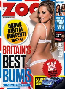 Daisy Watts - Daisy Watts presents Britain's Best Bums for Zoo Magazine