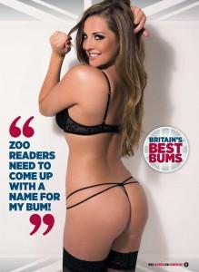 Daisy Watts3 - Daisy Watts presents Britain's Best Bums for Zoo Magazine