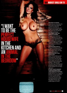 Jodie Marsh7 - Jodie Marsh presents 104 Rudest Girls on TV for Zoo Magazine