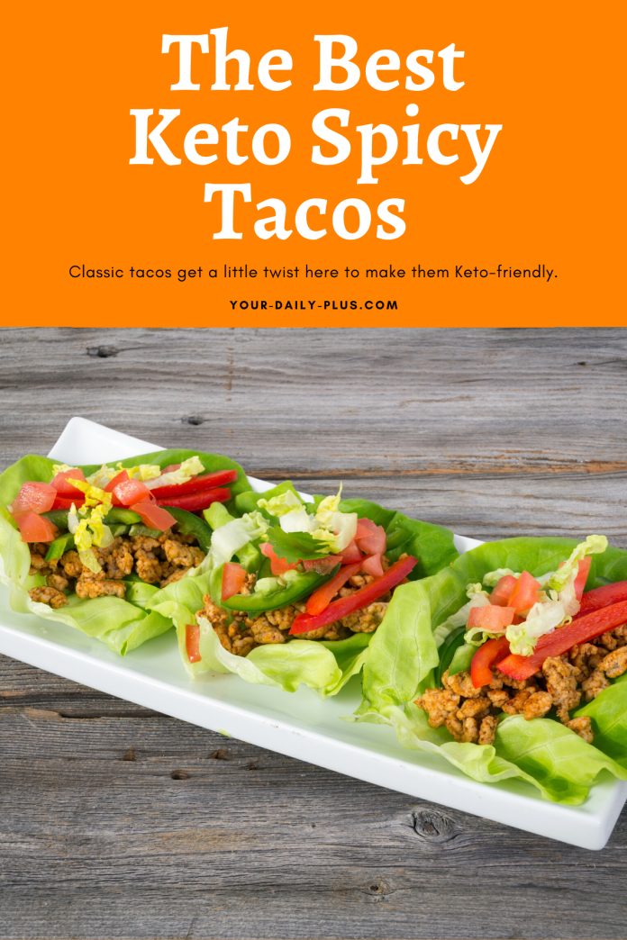 Classic tacos get a little twist here to make them Keto-friendly. We've tossed the carb-heavy taco shells and are using large Bib lettuce leaves instead. And really the filling is the most important part and it is super delicious. #ketodiet #ketogenic #tacos #lowcarb