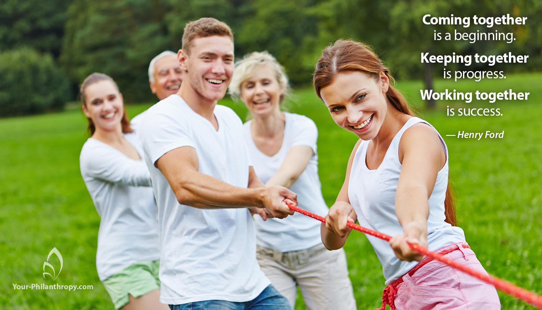 5 Keys To Build Teamwork In Family Giving