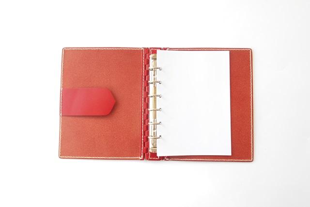 オーダーメイドのA6サイズのシステム手帳