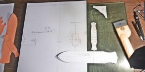 オーダーメイドのA4ノートカバーの型紙作り