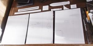 オーダーメイドのA4ノートカバーの型紙が完成