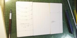 特殊なステッチを前提の型紙作り(オーダーメイドの手帳カバー)
