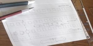 背表紙とペンホルダーの共通の型紙