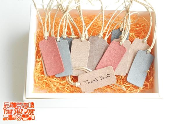 合言葉でお好きな色の床革レザータグをプレゼント