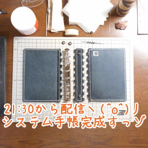 今夜混成、レザー蝶番のシステム手帳ですヽ(^o^)丿