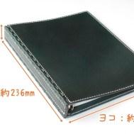 A5 レザー蝶番のシステム手帳 Navy 5
